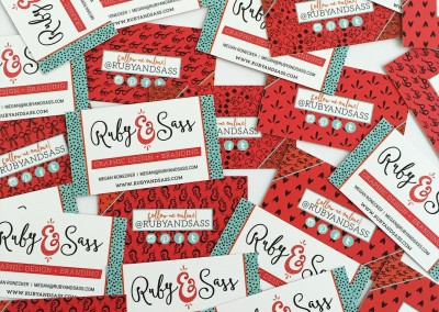 Ruby and Sass Business Cards