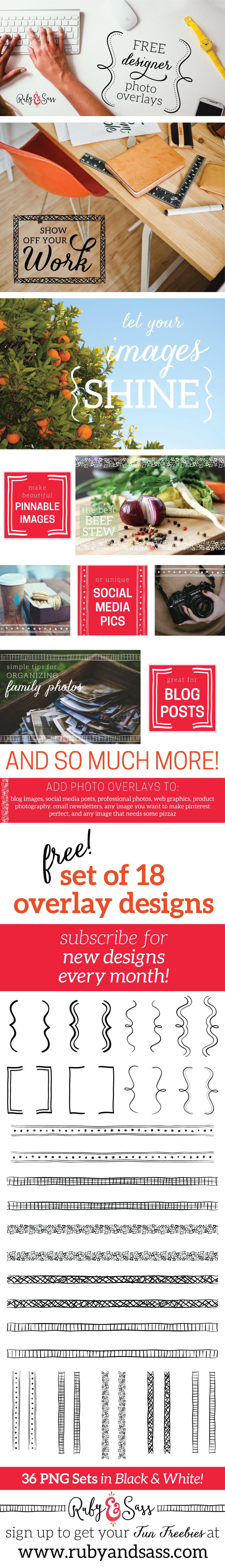 Free Set of 90 Photo Overlays!