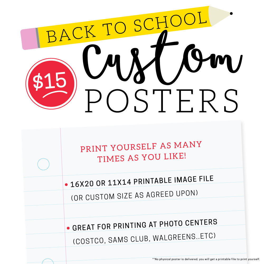 Custom Posters For Teachers | Ruby and Sass | Graphic Design | St ...