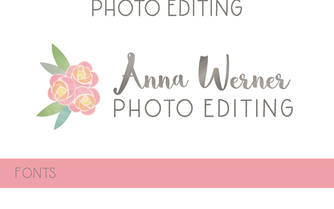 Logo Design – Anna Werner Photo Editor Branding